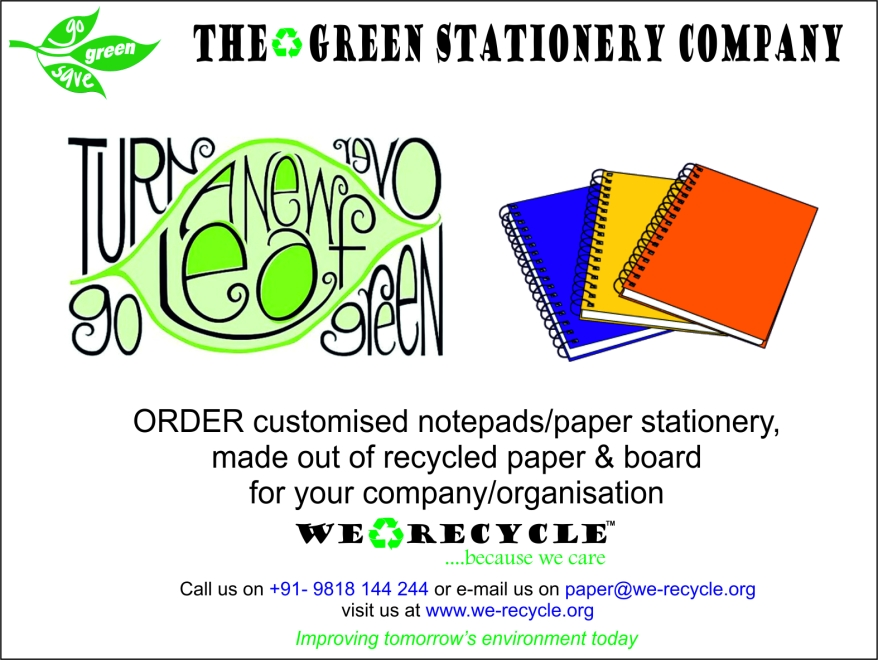 Ad for custom made stationery