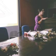 Vasudha Mehta, Co-founder of JAAGRUTI holding the awareness session
